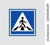 pedestrian icon isolated of... | Shutterstock .eps vector #1040608189
