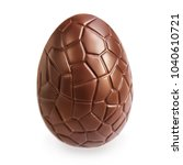 Chocolate Easter  Egg  Isolated ...