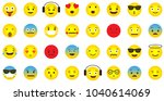 emoji icon collection with... | Shutterstock .eps vector #1040614069