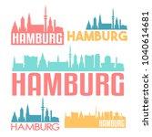 hamburg germany flat icon... | Shutterstock .eps vector #1040614681