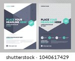 brochure layout template  cover ... | Shutterstock .eps vector #1040617429