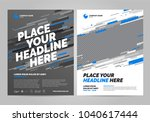 brochure layout template design.... | Shutterstock .eps vector #1040617444