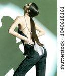 fashion model posing | Shutterstock . vector #1040618161