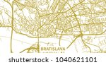 detailed vector map of... | Shutterstock .eps vector #1040621101