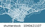 detailed vector map of varna ... | Shutterstock .eps vector #1040621107