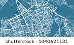 detailed vector map of novi sad ... | Shutterstock .eps vector #1040621131