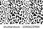 Stock vector leopard pattern texture repeating seamless monochrome black and white fashion and stylish 1040623984