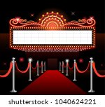 theater movie sign red carpet... | Shutterstock .eps vector #1040624221