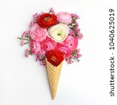 Waffle Cone With Composition O...