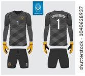 goalkeeper jersey or soccer kit ...   Shutterstock .eps vector #1040628937
