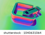 abstract color pencil in square ... | Shutterstock . vector #1040631064