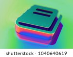 abstract color file text icon... | Shutterstock . vector #1040640619