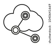 cloud icon computing outline... | Shutterstock .eps vector #1040641669