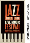 Vector Poster For A Jazz...