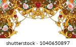 decorative composition with ...   Shutterstock . vector #1040650897