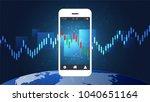 mobile stock trading concept... | Shutterstock .eps vector #1040651164