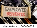 writing text showing employee... | Shutterstock . vector #1040654359