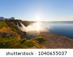 lower duden waterfall ... | Shutterstock . vector #1040655037