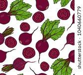 seamless background of ripe... | Shutterstock .eps vector #1040660779