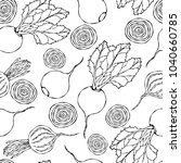 seamless background of ripe... | Shutterstock .eps vector #1040660785