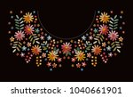 embroidery pattern with... | Shutterstock .eps vector #1040661901