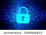 safety concept  closed padlock... | Shutterstock .eps vector #1040666815