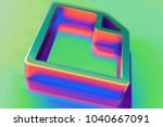abstract color file icon with...