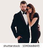 portrait of an elegant woman in ... | Shutterstock . vector #1040668645