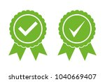 approved certified icon... | Shutterstock .eps vector #1040669407