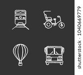 public transport chalk icons... | Shutterstock .eps vector #1040669779