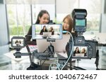 professional set of camera with ... | Shutterstock . vector #1040672467