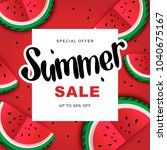 watermelon super summer sale... | Shutterstock .eps vector #1040675167