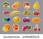 illustration of stickers of... | Shutterstock .eps vector #1040685625