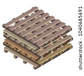 stock from wooden pallets for... | Shutterstock .eps vector #1040685691