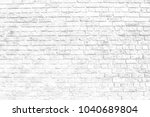 black and white old brick wall... | Shutterstock . vector #1040689804