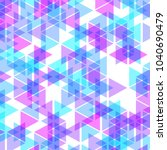 colorful abstract geometric... | Shutterstock .eps vector #1040690479