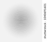dotted abstract form. vector... | Shutterstock .eps vector #1040691601