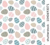 happy easter seamless pattern... | Shutterstock .eps vector #1040693071