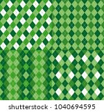 four festive irish tartan...   Shutterstock .eps vector #1040694595