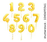 golden numbers made of... | Shutterstock . vector #1040695561