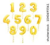 golden numbers made of... | Shutterstock . vector #1040695561