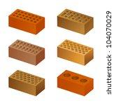 bricks | Shutterstock .eps vector #104070029