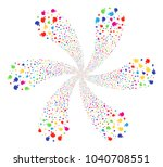 colorful fire flame cyclonic... | Shutterstock .eps vector #1040708551