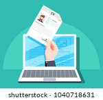 human resources  online job... | Shutterstock .eps vector #1040718631