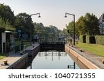 Small photo of Muelheim, North Rhine-Westphalia, Germany - September 27, 2016: Sluice on the River Ruhr