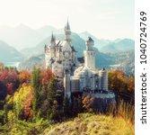 wonderful sunny landscape.... | Shutterstock . vector #1040724769