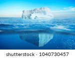 underwater view of iceberg with ... | Shutterstock . vector #1040730457