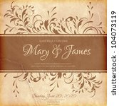 wedding card or invitation with ...   Shutterstock .eps vector #104073119