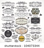 Stock vector collection calligraphic design elements and page decorations premium quality and satisfaction 104073344
