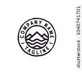 mountain and sea logo design... | Shutterstock .eps vector #1040741701